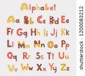 vector cute alphabet letters set | Shutterstock .eps vector #1200083212
