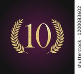 10 th years old logotype.... | Shutterstock .eps vector #1200083602