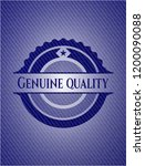 genuine quality emblem with... | Shutterstock .eps vector #1200090088