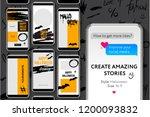 editable instagram stories... | Shutterstock .eps vector #1200093832