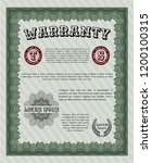 green retro vintage warranty...   Shutterstock .eps vector #1200100315