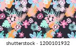 beautiful seamless design with... | Shutterstock . vector #1200101932