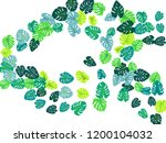 green tropical jungle leaves... | Shutterstock .eps vector #1200104032