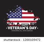 happy veteran's day. thank you... | Shutterstock .eps vector #1200105472
