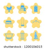 vector set of icons of kids... | Shutterstock .eps vector #1200106015