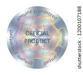 round hologram sticker. vector...   Shutterstock .eps vector #1200107188