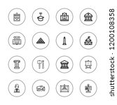 museum icon set. collection of... | Shutterstock .eps vector #1200108358