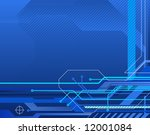 technology style abstract... | Shutterstock .eps vector #12001084