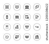 atm icon set. collection of 16... | Shutterstock .eps vector #1200108622