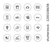 sand icon set. collection of 16 ... | Shutterstock .eps vector #1200108658