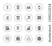 pollution icon set. collection... | Shutterstock .eps vector #1200113218