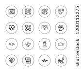 heartbeat icon set. collection... | Shutterstock .eps vector #1200113275