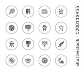 kebab icon set. collection of... | Shutterstock .eps vector #1200113455