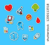 vector colored diabetes icons...   Shutterstock .eps vector #1200113518