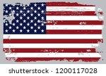 grunge usa flag.vintage... | Shutterstock .eps vector #1200117028