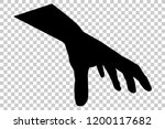 silhouette of hand pick or grab ... | Shutterstock .eps vector #1200117682