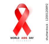 world aids day symbol  1... | Shutterstock .eps vector #1200120892