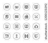 media icon set. collection of... | Shutterstock .eps vector #1200123292