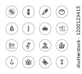 natural icon set. collection of ... | Shutterstock .eps vector #1200123415