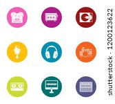 digital registration icons set. ... | Shutterstock .eps vector #1200123622