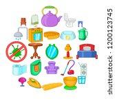 quarter icons set. cartoon set... | Shutterstock .eps vector #1200123745