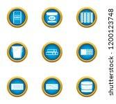 sticky mass icons set. flat set ...   Shutterstock .eps vector #1200123748