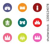 framework icons set. flat set... | Shutterstock .eps vector #1200124078