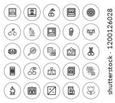 macro icon set. collection of... | Shutterstock .eps vector #1200126028