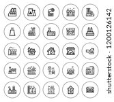 chimney icon set. collection of ... | Shutterstock .eps vector #1200126142