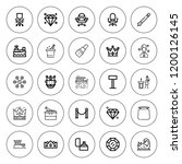 luxury icon set. collection of... | Shutterstock .eps vector #1200126145