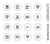 pizza icon set. collection of... | Shutterstock .eps vector #1200126172