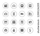 storage icon set. collection of ... | Shutterstock .eps vector #1200126205