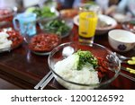 various and delicious korean... | Shutterstock . vector #1200126592