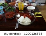 various and delicious korean... | Shutterstock . vector #1200126595
