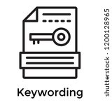 keywording ideas for meta tags    Shutterstock .eps vector #1200128965