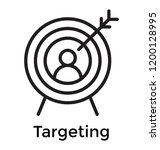 a target marketing concept for ... | Shutterstock .eps vector #1200128995