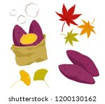 illustration set of roasted... | Shutterstock .eps vector #1200130162
