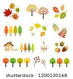 autumn leaves illustration... | Shutterstock .eps vector #1200130168