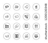 speaker icon set. collection of ... | Shutterstock .eps vector #1200130348