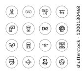 tie icon set. collection of 16...   Shutterstock .eps vector #1200130468