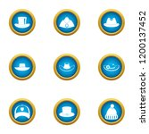 attire icons set. flat set of 9 ... | Shutterstock .eps vector #1200137452