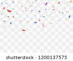 colorful bright confetti... | Shutterstock .eps vector #1200137575