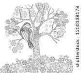 doodle winter drawing. art...   Shutterstock .eps vector #1200138178