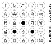 garbage icon set. collection of ... | Shutterstock .eps vector #1200139258