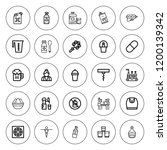 bottle icon set. collection of...   Shutterstock .eps vector #1200139342