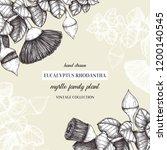 wedding invitation design. hand ...   Shutterstock .eps vector #1200140545