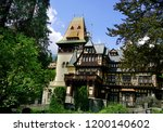 peles castle  sinaia  romania  ... | Shutterstock . vector #1200140602