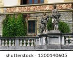 peles castle  sinaia  romania  ... | Shutterstock . vector #1200140605