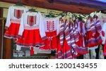 souvenir market at bran castle ... | Shutterstock . vector #1200143455
