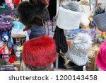 souvenir market at bran castle ... | Shutterstock . vector #1200143458